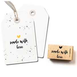 Wooden Stamp - Made with Love