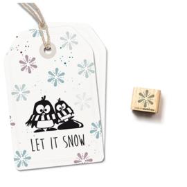 Houten Stempel - Mini Sneeuwvlok 1