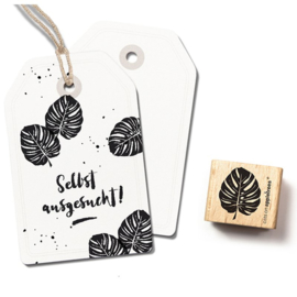 Wooden Stamp - Monstera Leaf Small