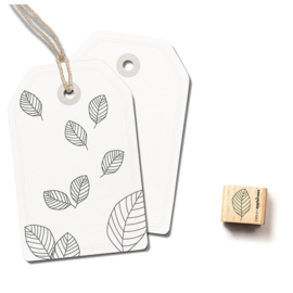 Wooden Stamp - Mini Leaf