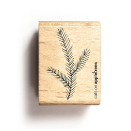 Wooden Stamp - Pine Twig