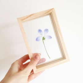 ​WOODEN PICTURE FRAME DOUBLE GLASS A6