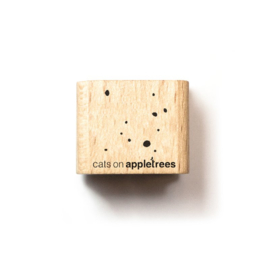 Houten Stempel - Mini Confetti / Stipjes