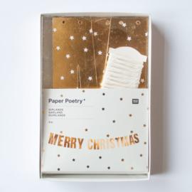 DIY GARLAND - MERRY CHRISTMAS GOLD&WHITE