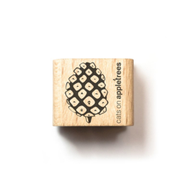 Wooden Stamp - Mini Pine Cone