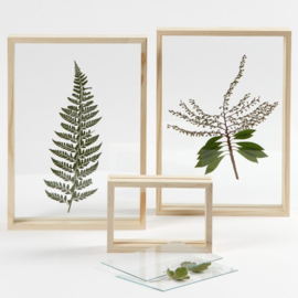 Wooden Picture Frame Double Glass Set