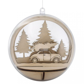 Christmas Ornament Insert - Car & Tree