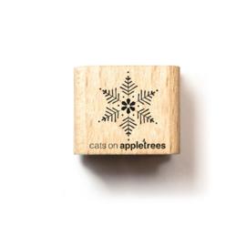 Houten Stempel - Mini Sneeuwvlok 2
