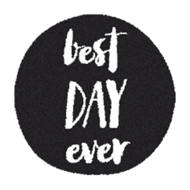 Houten Stempel - Best DAY ever