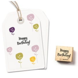 Wooden Stamp - Happy Birthday!