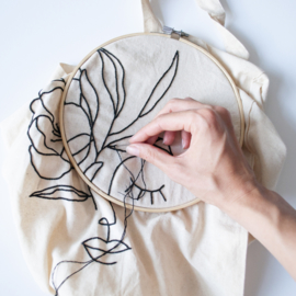 Borduurpakket Canvas Tas