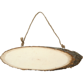 Wood Slice Hanger - Oval