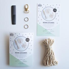DIY-pakket Macrame Sleutelhangers