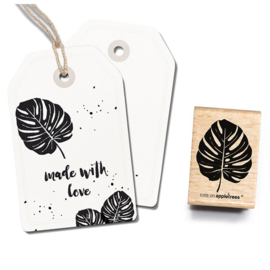 Wooden Stamp - Monstera Leaf