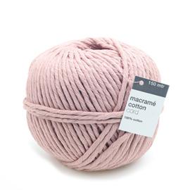 Macrame Yarn Powder Pink - 150 meter