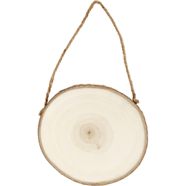 Wood Slice Hanger - Round
