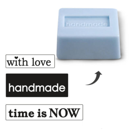 "EMBOSSING LABELSET ""WITH LOVE-HANDMADE-TIME IS NOW"""