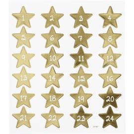 ADVENT CALENDAR STICKERS - GOLD STARS