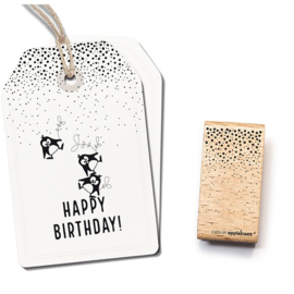 Wooden Stamp - Confetti Rain