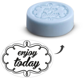 "EMBOSSING LABEL ""ENJOY TODAY"""