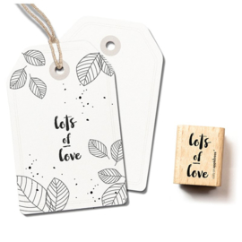 Houten Stempel - lots of love