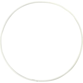 Metal Wire Ring White - 20 cm