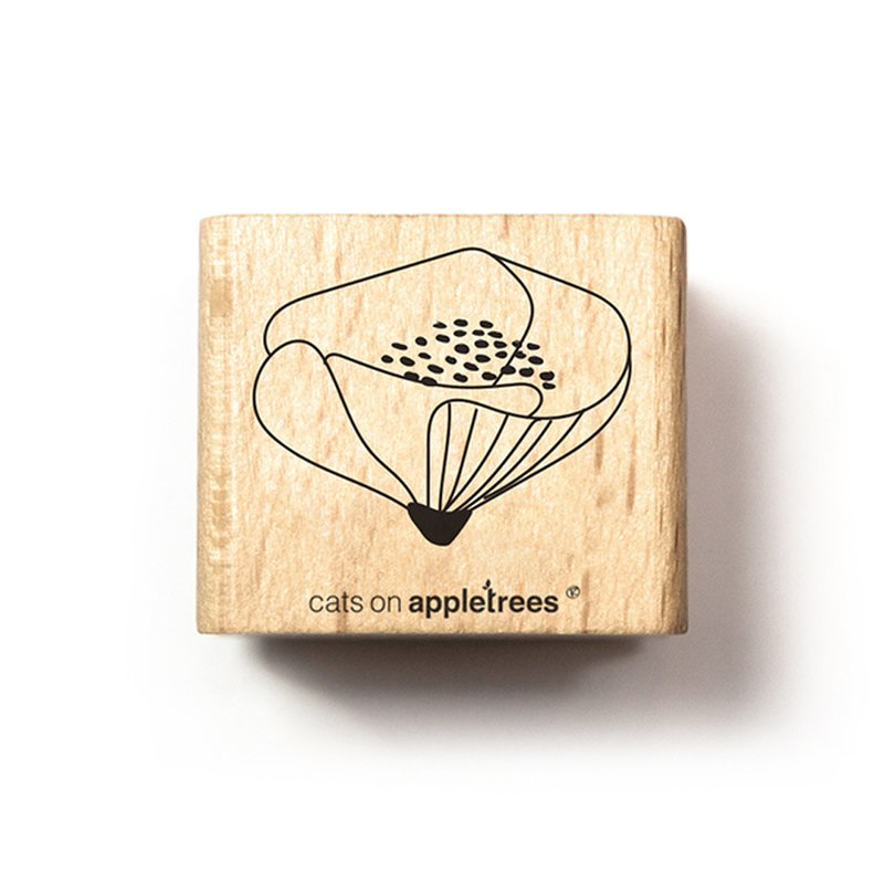 Wooden Stamp - Flower Bud 3