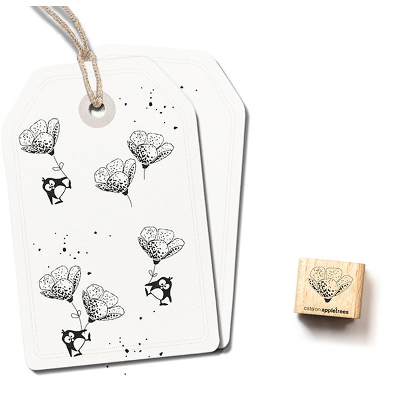 Wooden Stamp - Mini Flower Bud