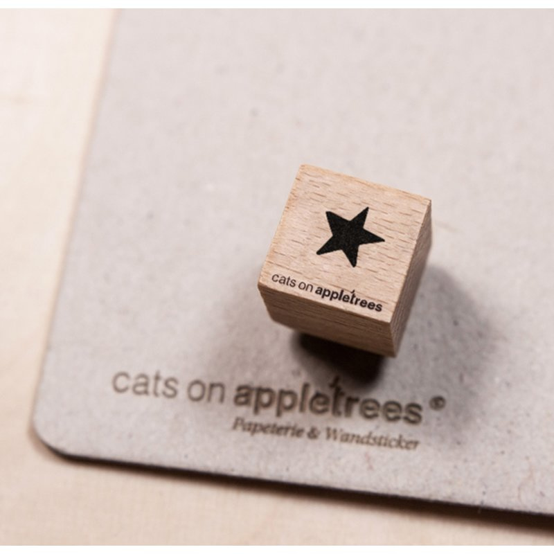 Wooden Stamp - Mini Star