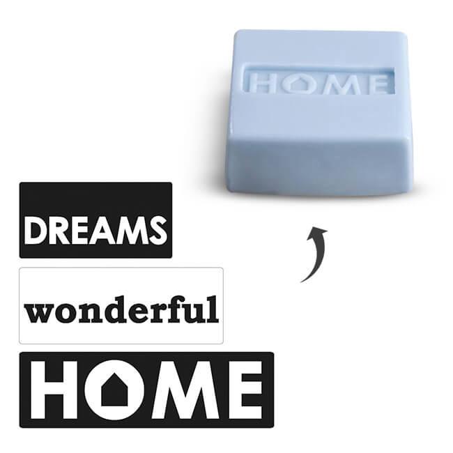 """Gietlabelset """"Dreams - Wonderful - Home"""""""