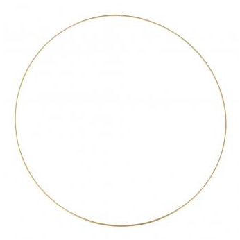 METAL RING GOLD - 60 CM