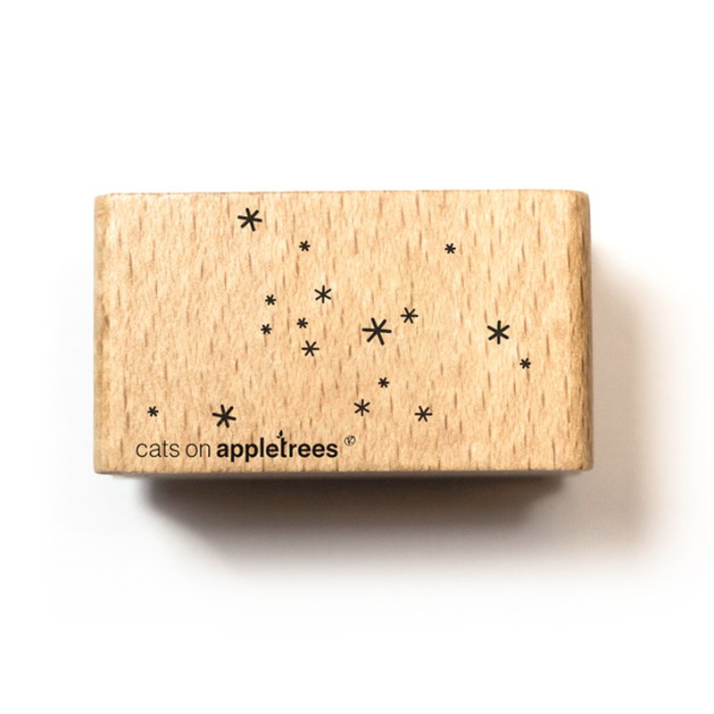 Wooden Stamp - Snow / Stars
