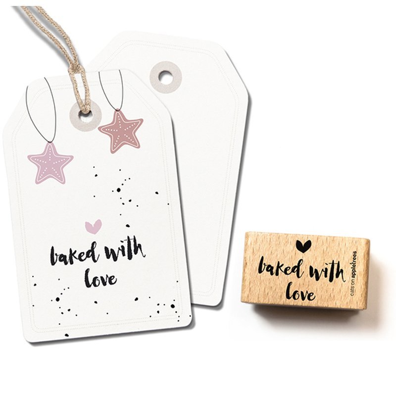Houten Stempel - baked with love