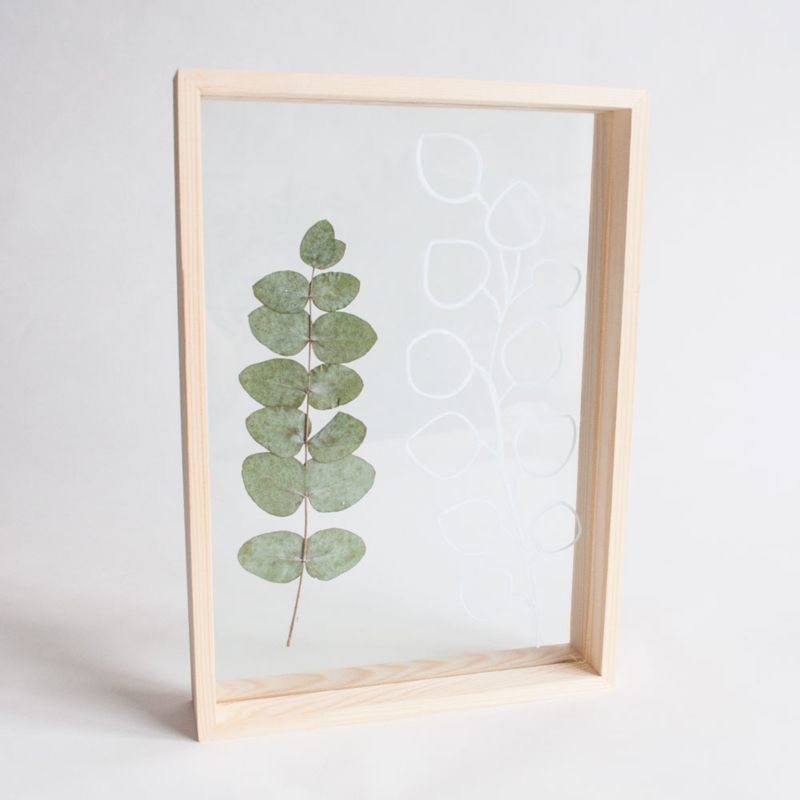Wooden Picture Frame Double Glass A4
