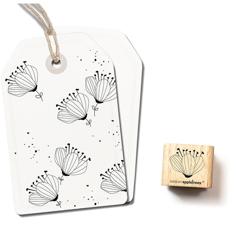 Wooden Stamp - Flower Bud 2