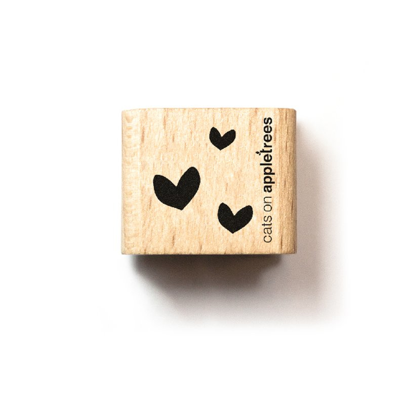 Houten Stempel - Mini Hartjes