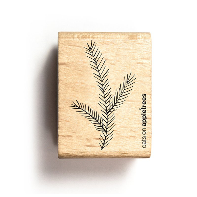 Houten Stempel - Dennentakje