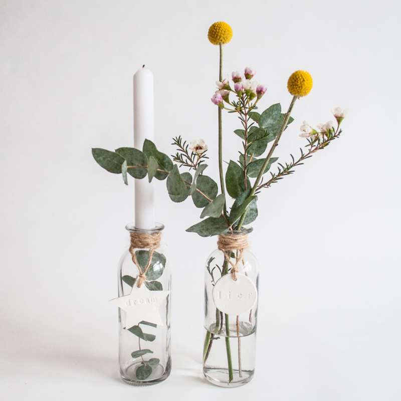 DIY KIT CANDLE VASES