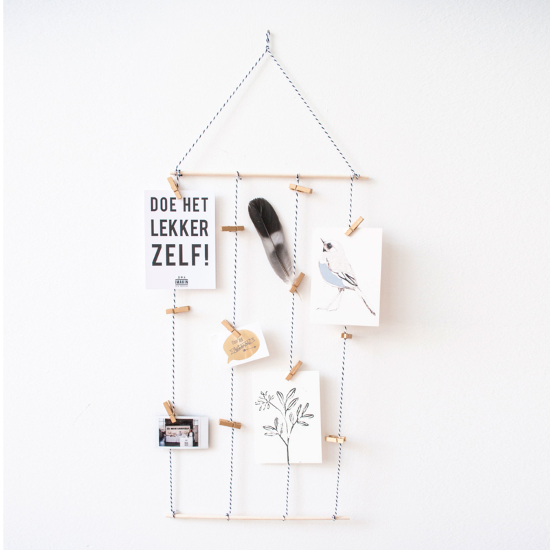 Mini DIY-pakket Kaartenhanger