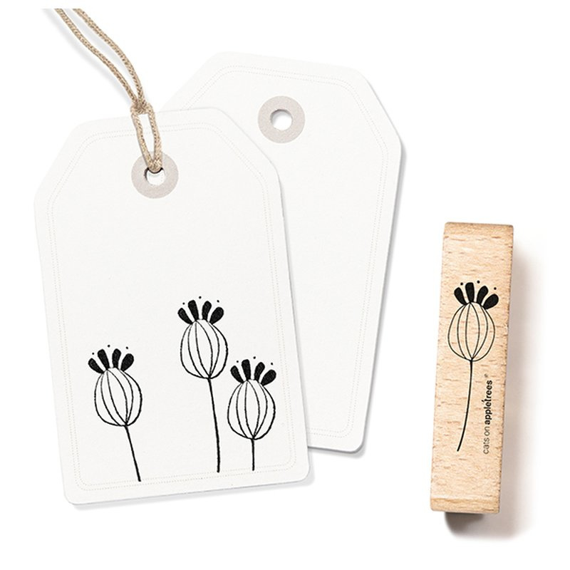 Wooden Stamp - Plant Twig