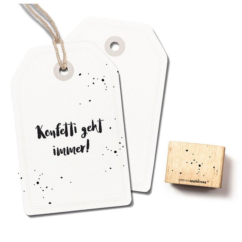 Houten Stempel - Confetti / Stipjes