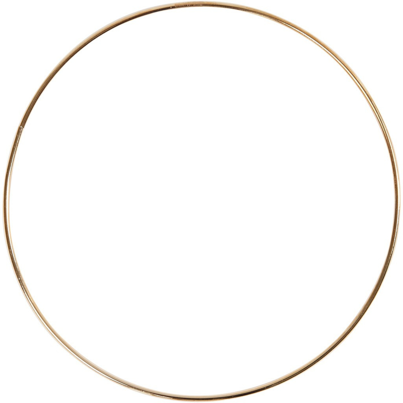 Metal Wire Ring Gold - 20 cm