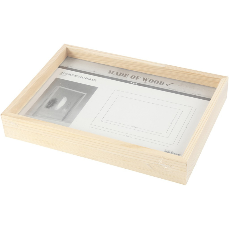 Fotolijst Dubbel Glas.Houten Fotolijst Dubbelglas A4 Blanco Ondergronden Imakin