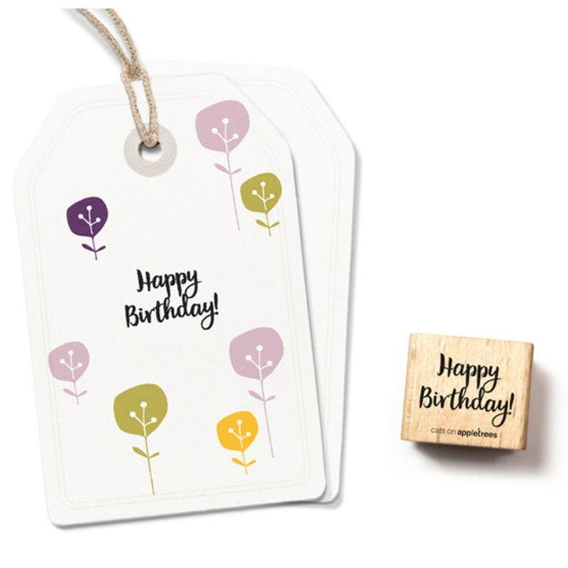 Houten Stempel - Happy Birthday!
