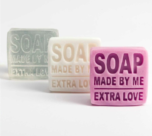 """Gietlabel """"Soap Made By Me - Extra Love"""""""