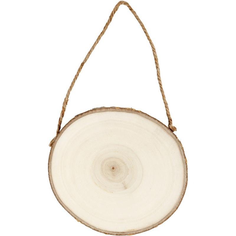 Wood Slice Hanger - Round