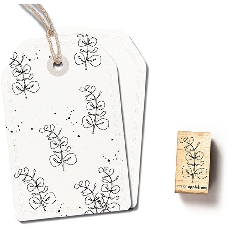 Wooden Stamp - Eucalyptus Small