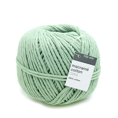 Macramé Garen Mint Groen - 150 meter