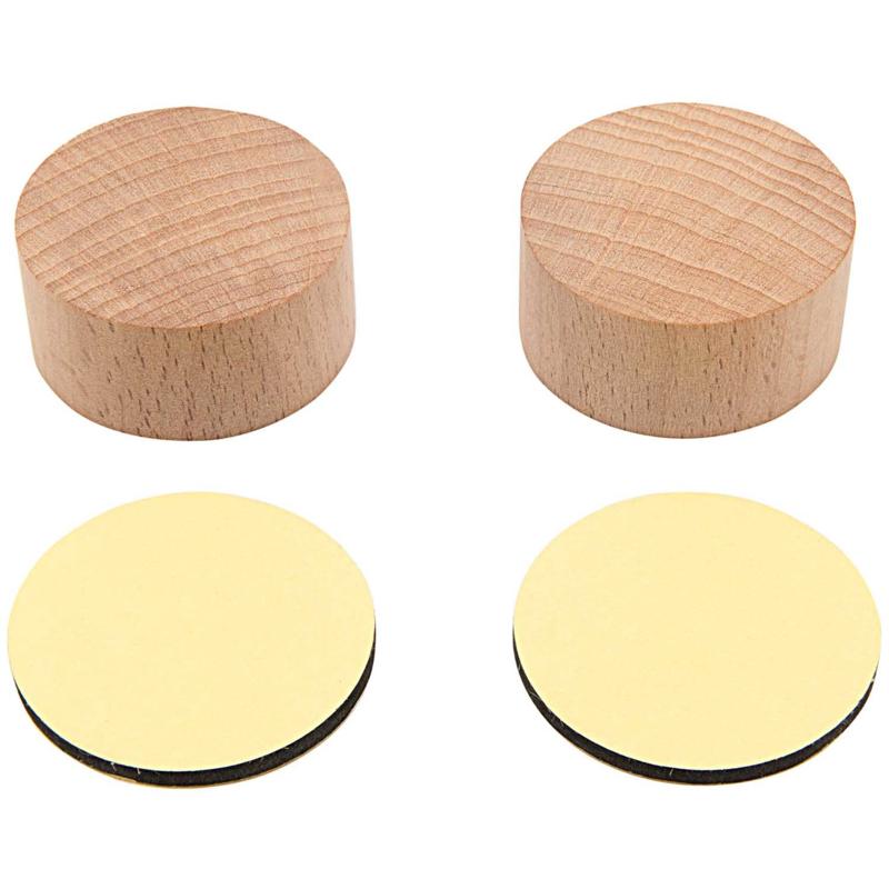 Houten Stempelblokjes Rond - 4 cm