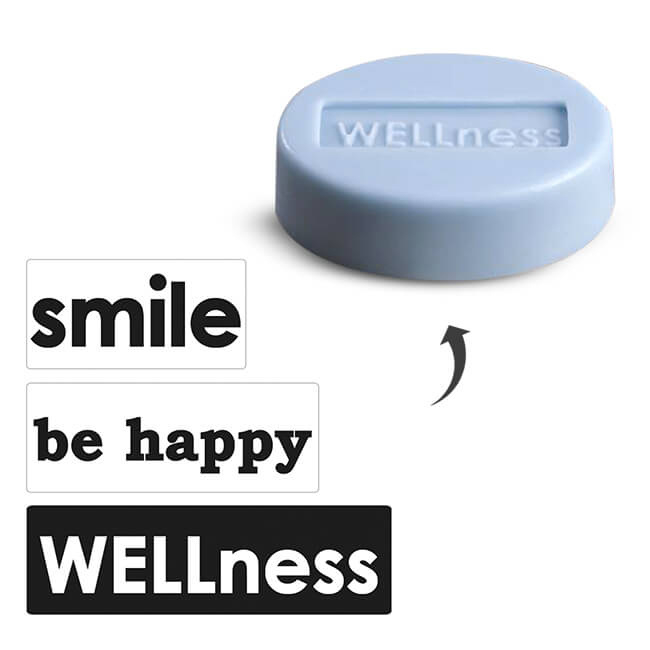 "EMBOSSING LABELSET ""SMILE-BE HAPPY-WELLNESS"""